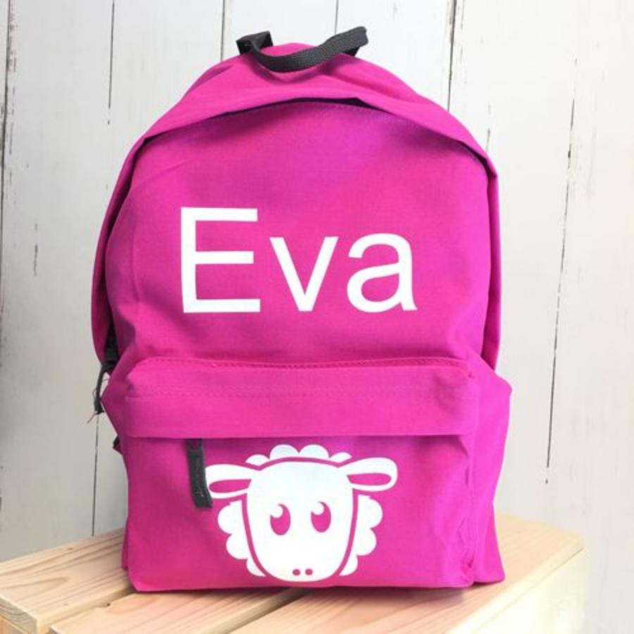Backpack with name and sheap print-2