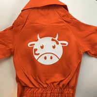 thumb-Customise your overall with the picture of a cow-1