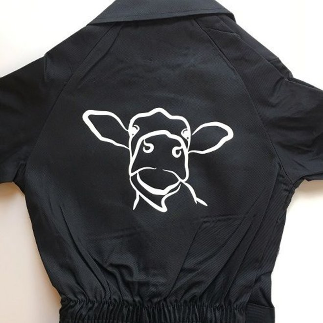 Children's overall with Cow sketch