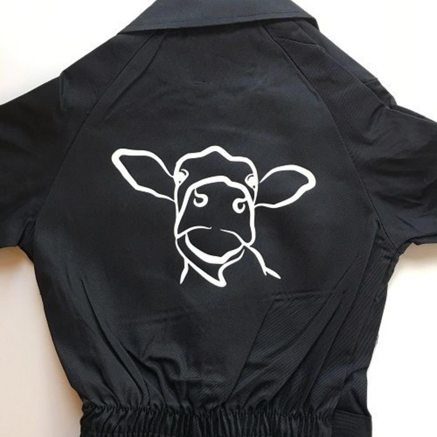 Overall printed with cow sketch-1