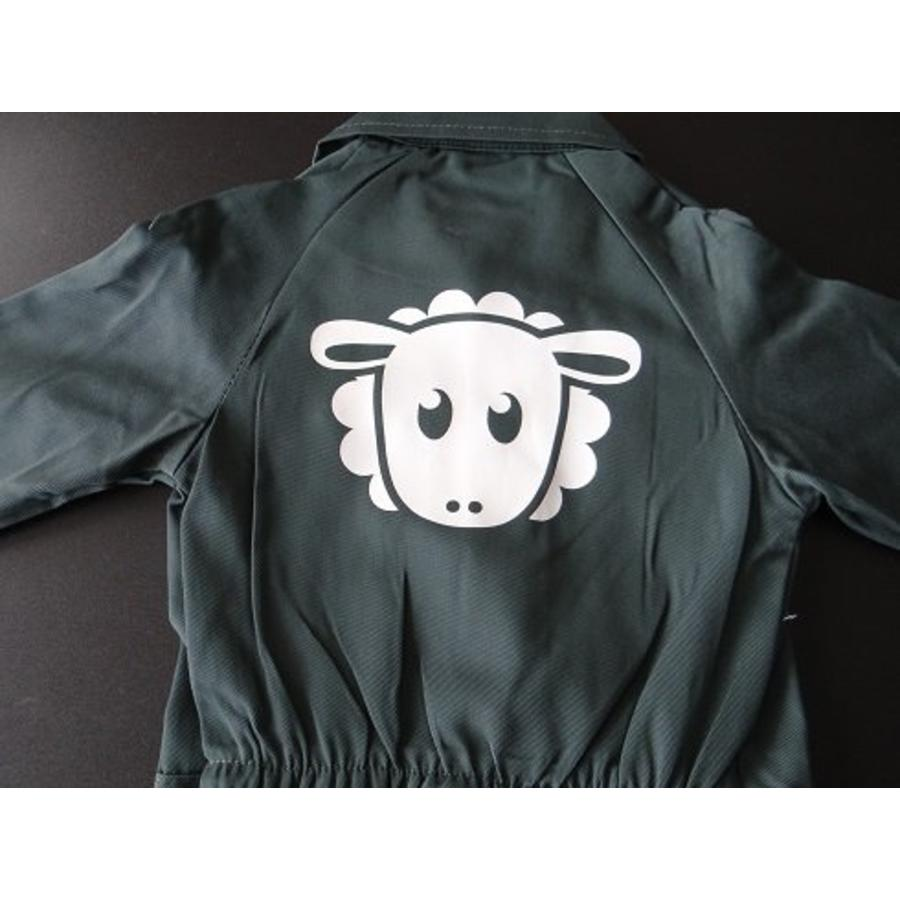 Coverall with a sheep printed on the back-1