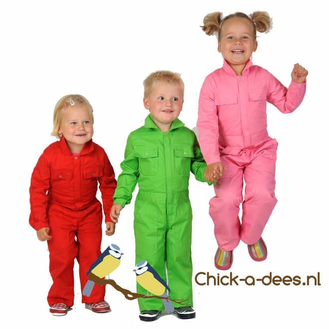 Coverall printed with farm animals sheep, cow and pig