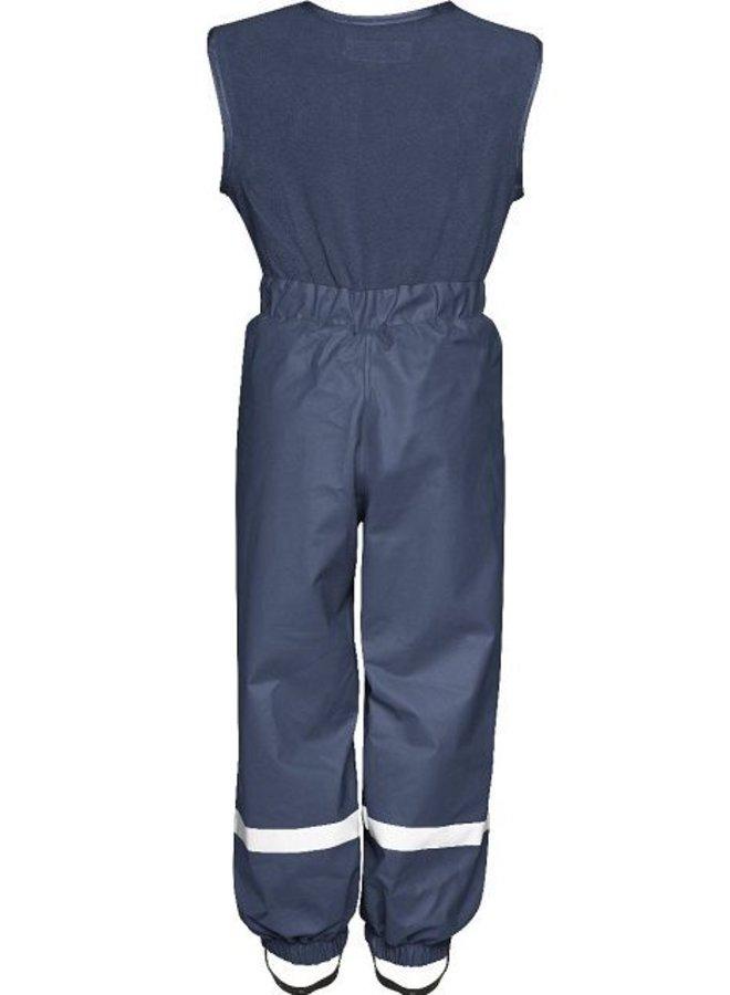 Fleece-lined ski and rain trousers with fleece top-navy
