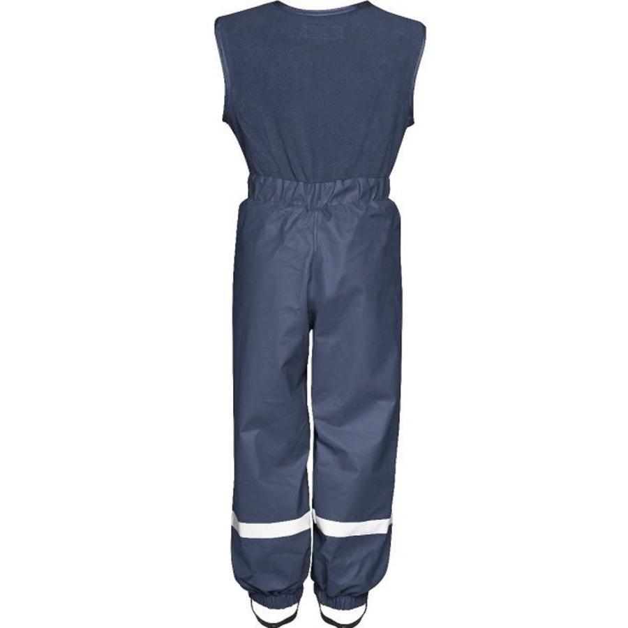 Fleece-lined ski and rain trousers with fleece top-navy-2
