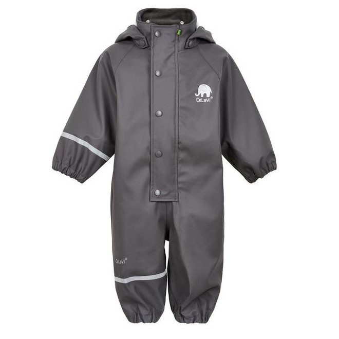 Mouse gray kids rain overalls | 80-110