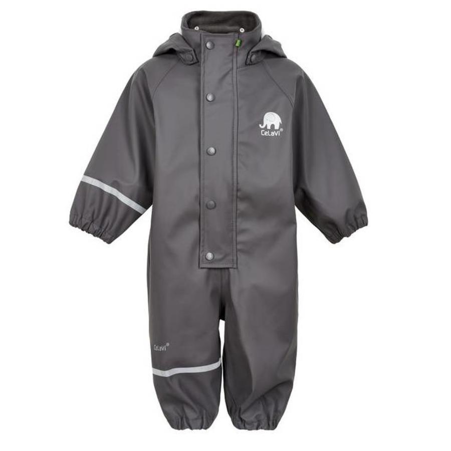 One-piece children's rainsuit: mousegrey   80-110-1