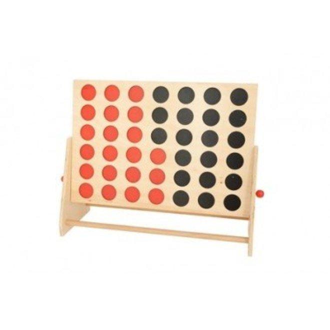Mega 4 op een rij spel van hout