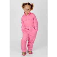 thumb-Pink overall for children-1
