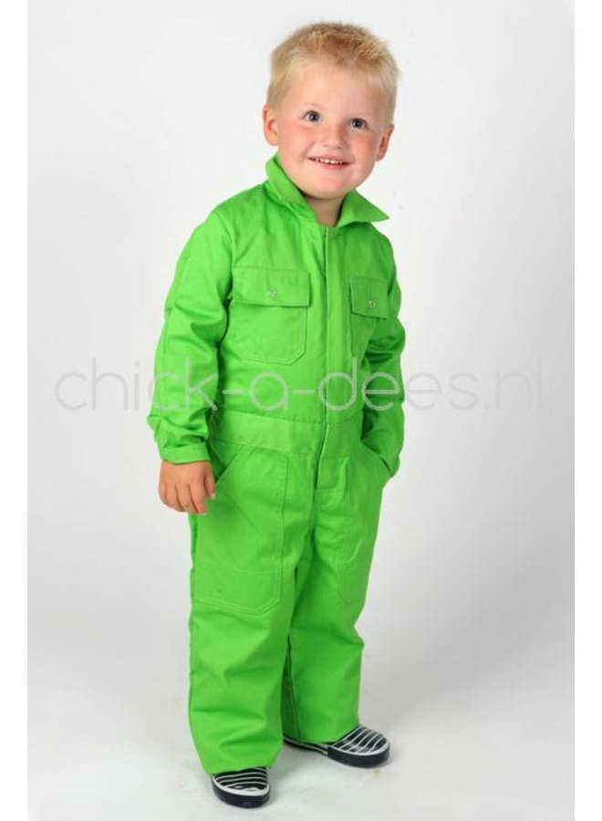 Children's overall lime green apple green