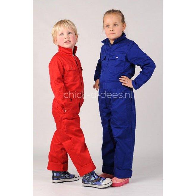 Children's overalls red or cornflower blue