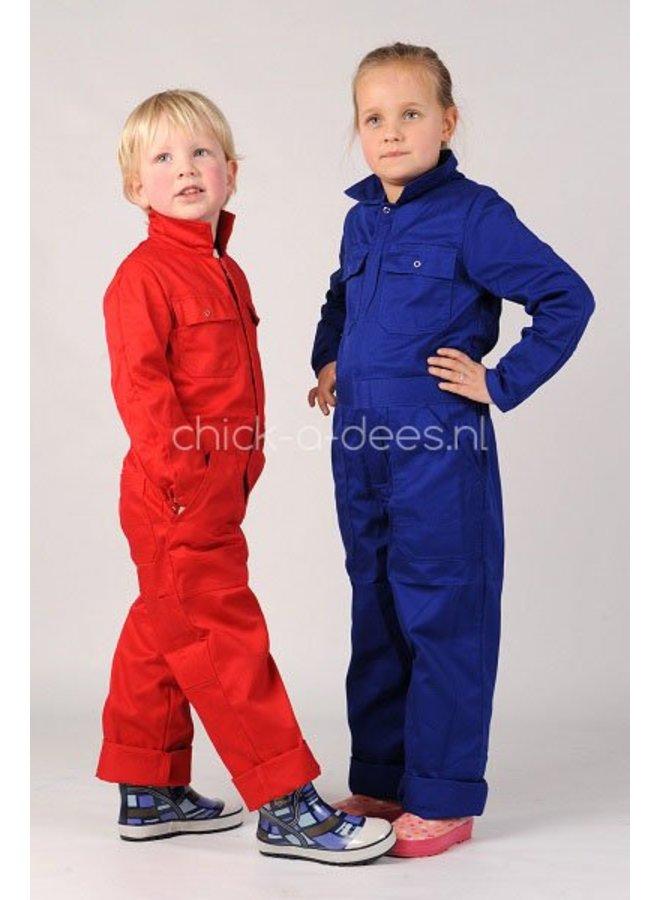 Kinderoverall rood of korenblauw