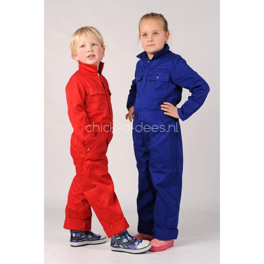 Children's overall red or royal blue-2