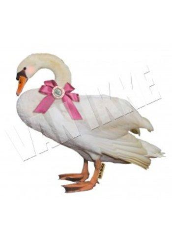 Vanikke Iron-on transfer swan for coveralls