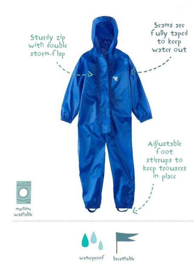 Waterproof overall, regenoverall - blauw- KDV en BSO
