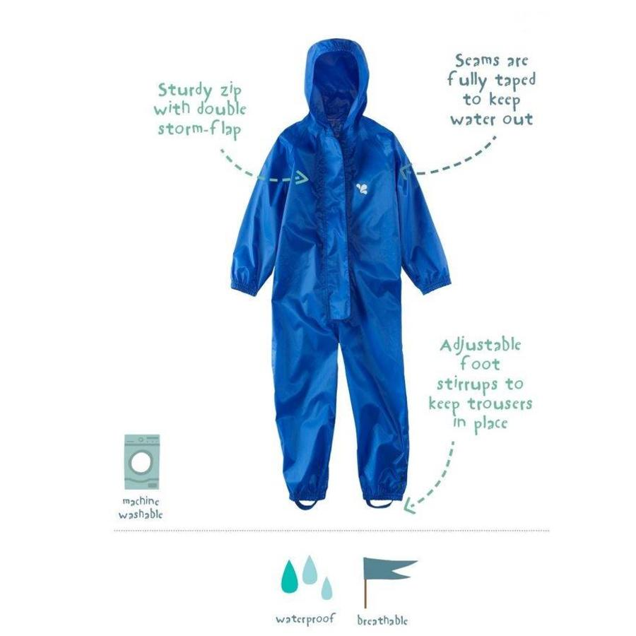 Waterproof overall, rain overall - blue KDV and BSO-3