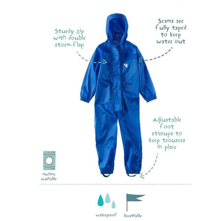 Waterproof overall, regenoverall - blauw- KDV en BSO-3