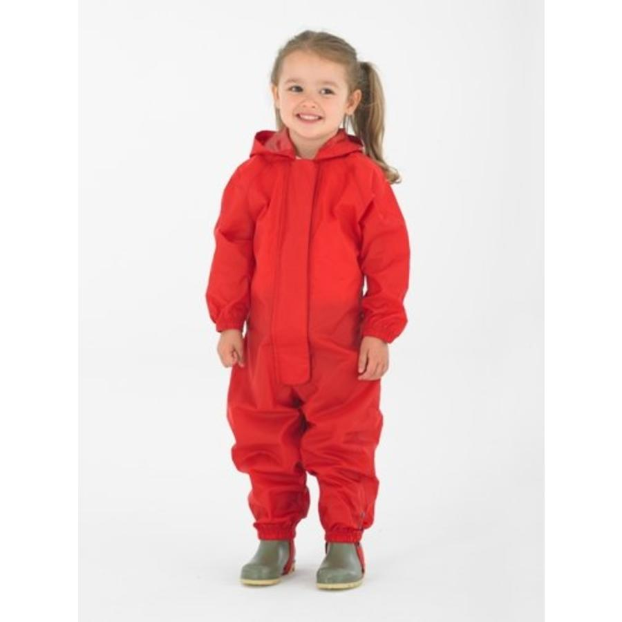 Waterproof overall, regenoverall - rood KDV & BSO-1