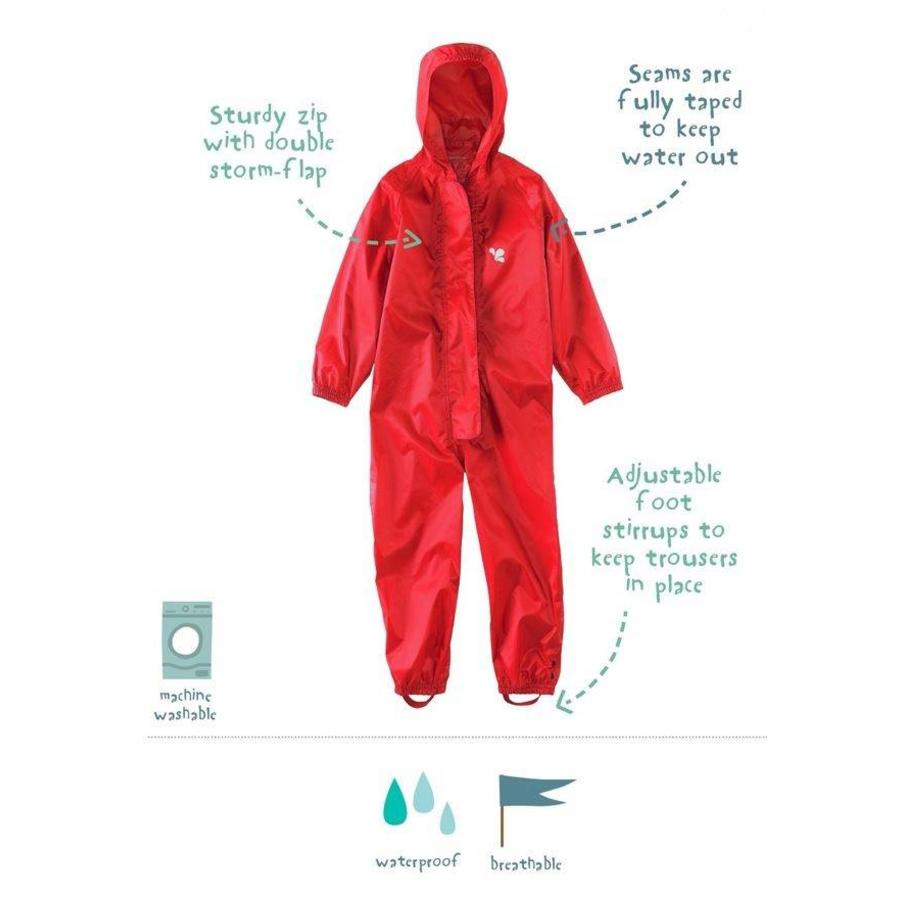 Waterproof overall, regenoverall - rood KDV & BSO-2