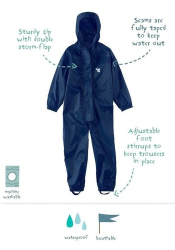 MP buitenkleding Waterproof overall, regenoverall - navyblauw KDV & BSO