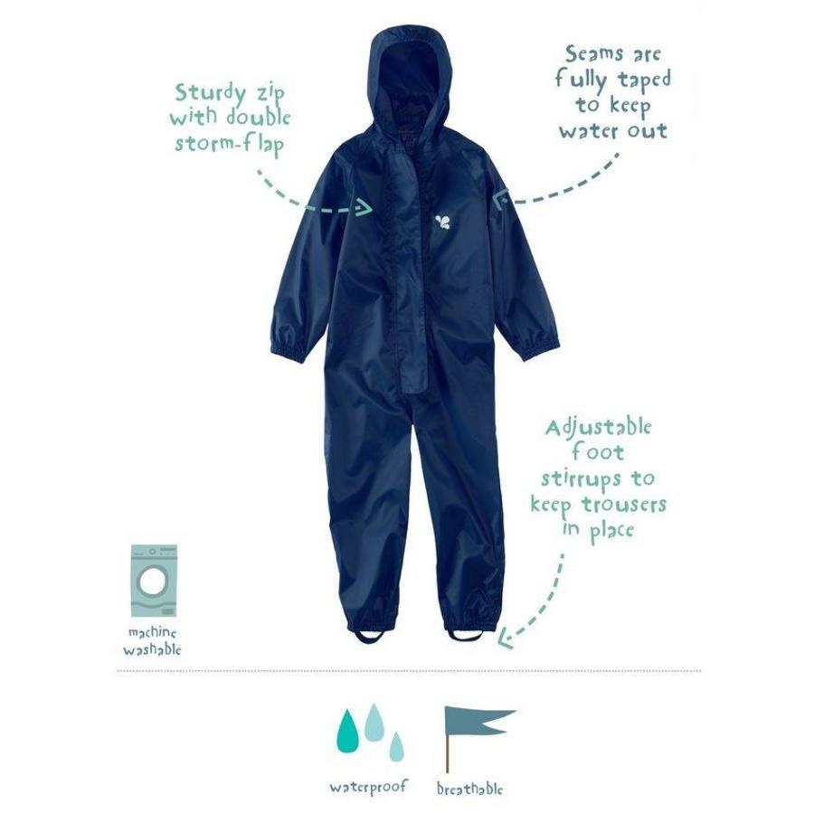 Waterproof coveralls, rain boiler suit - navy blue-1