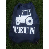 thumb-Gym bag, backpack with drawstring with name and tractor-2