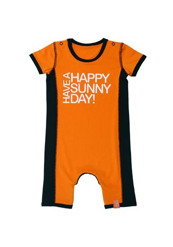 HappySunnyDays Uv werend baby rompertje in oranje