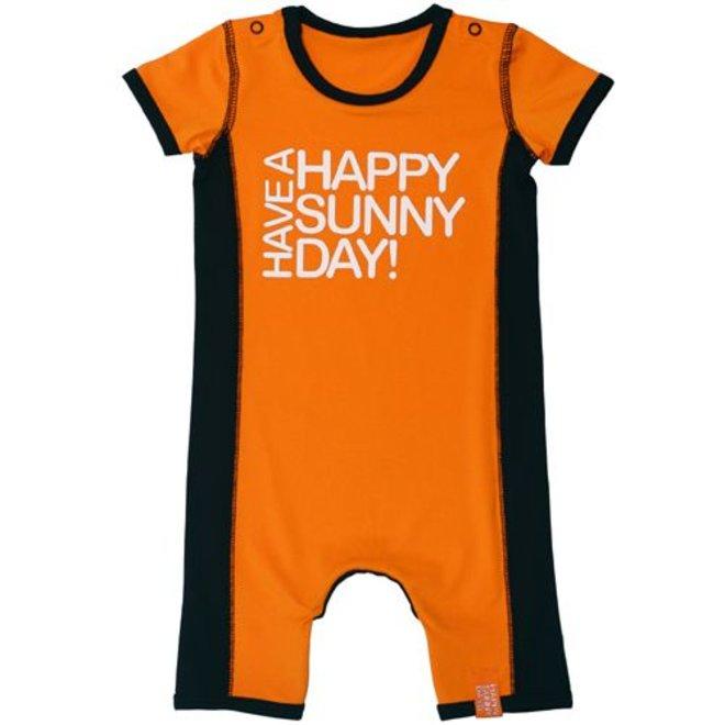 Uv-babyromper/zwempak, oranje