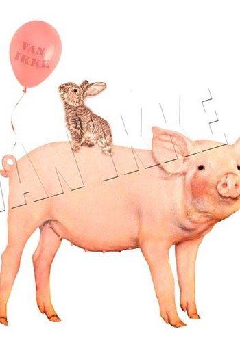 Vanikke Iron-on transfer party pig