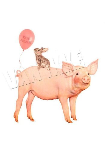 Iron-on transfer party pig