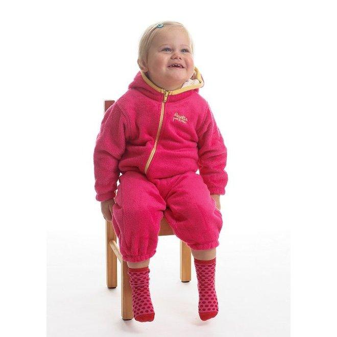 High-pile fleece suit Hugs, pink