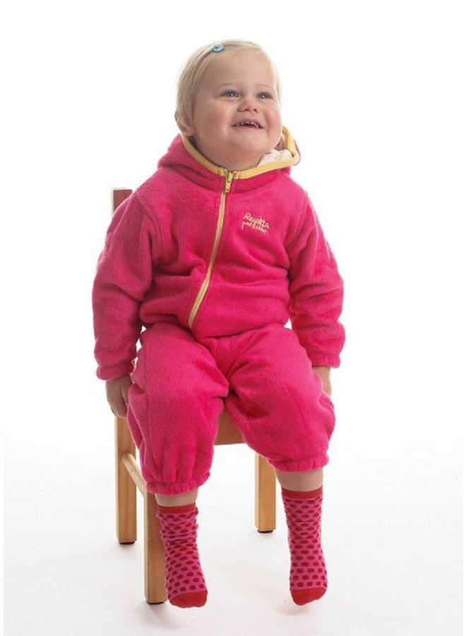 Downy fleece child's suit Hugs, pink