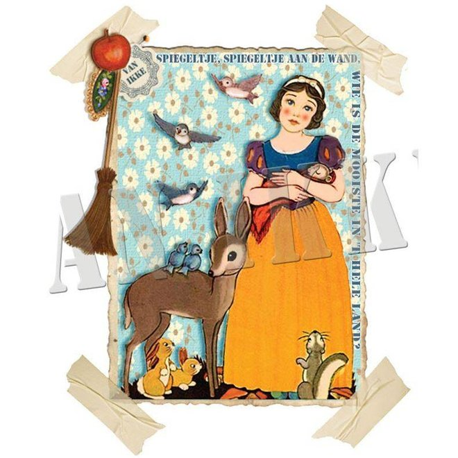 Iron-on transfer Snow White for coveralls