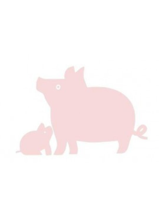 Velours iron-on patch pig for coverall or t-shirt