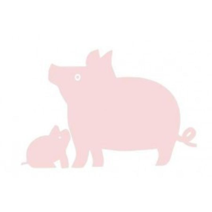 Velours iron-on patch pig for coverall or t-shirt-1