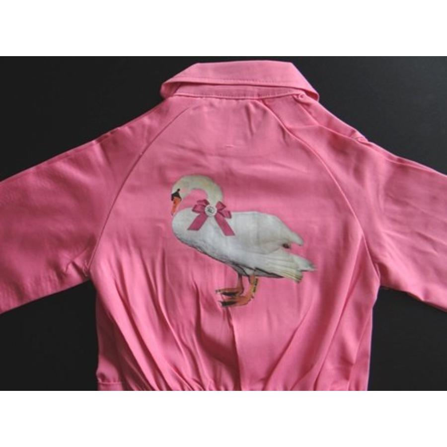 Iron-on transfer swan for coveralls-2