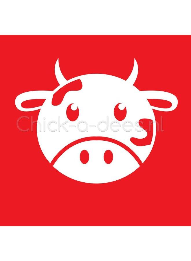 Bedrukking koe voor overall