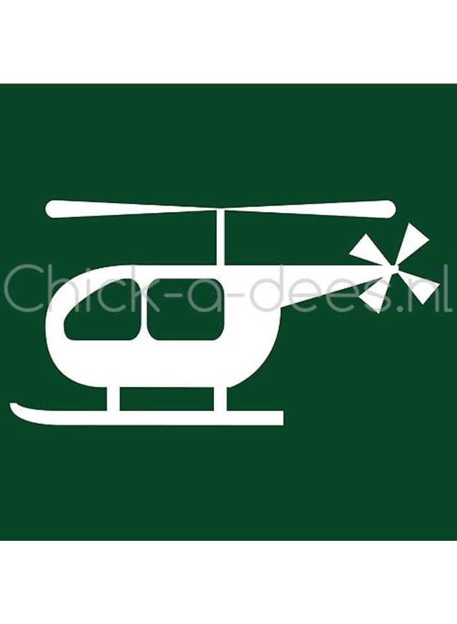 Helicopter print voor overall