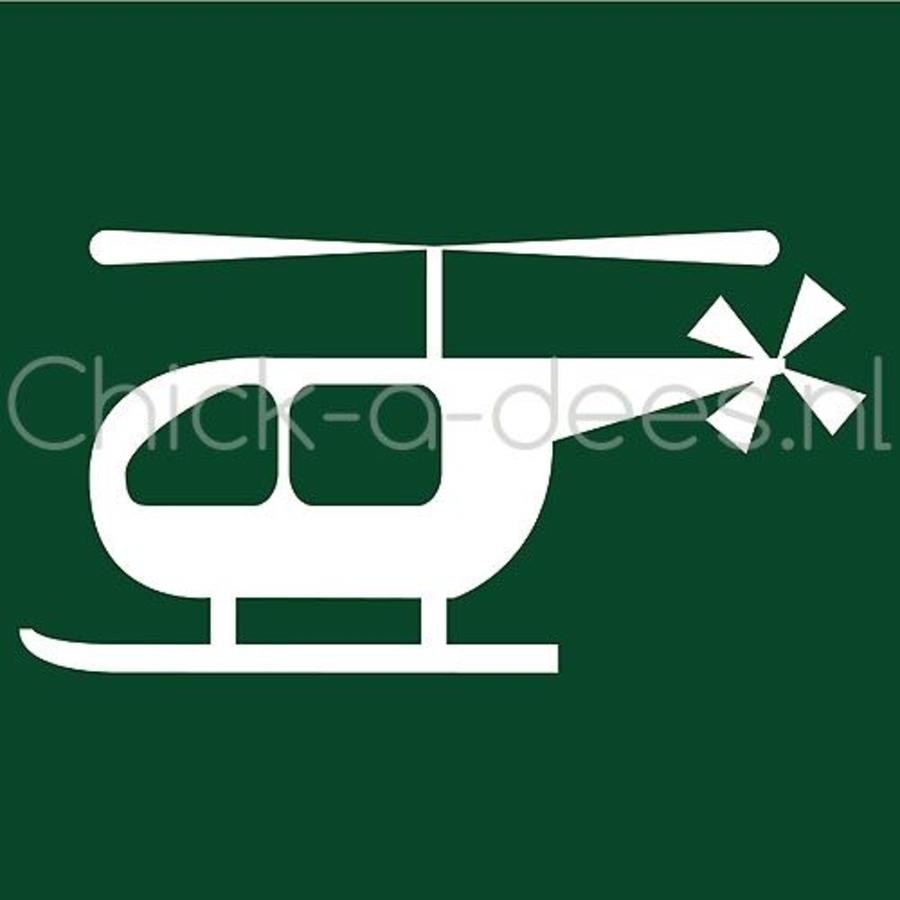 Helicopter print voor overall-1