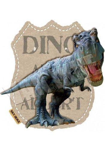 Vanikke Strijkapplicatie Dino Alert