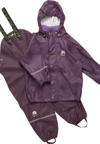 CeLaVi Purple rain suit with stars   90-120
