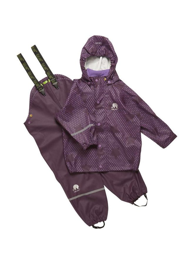 Purple rain suit with stars | 90-120
