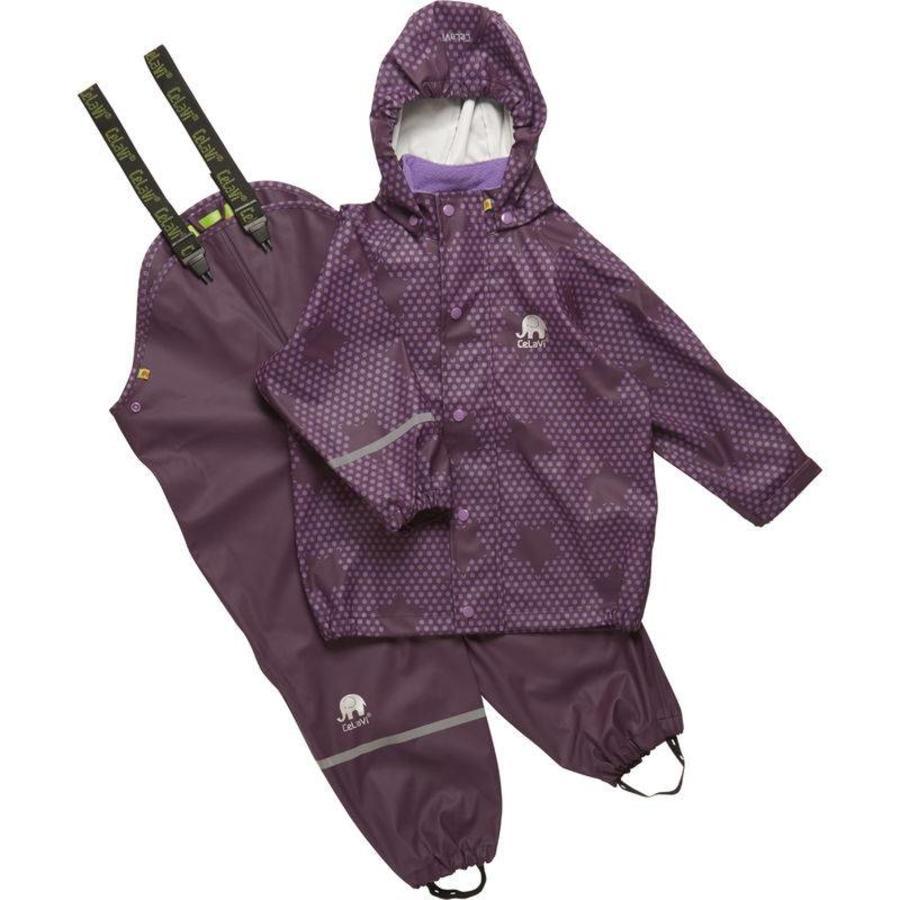 Rain trousers and raincoat with stars print| 90-120-1