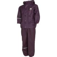 thumb-Rain trousers and raincoat with stars print| 90-120-2