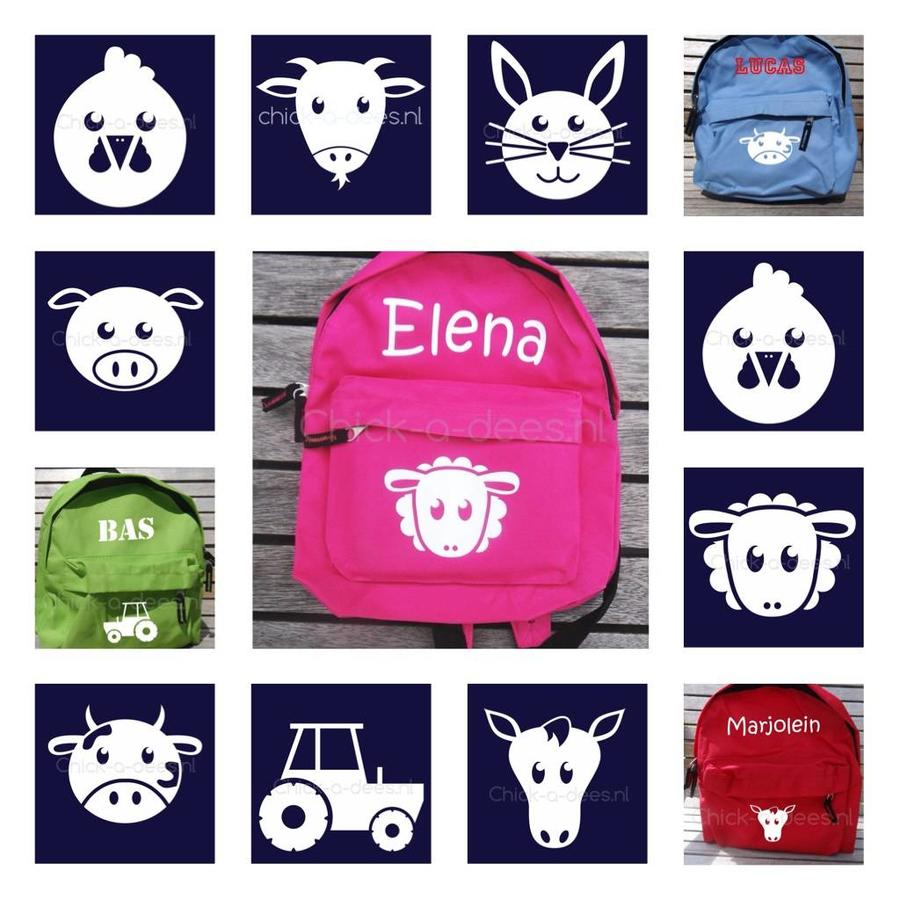 Beautiful backpack with name print and farm theme-1