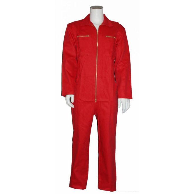 Children's overall 100% cotton in red