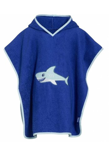 Playshoes Beach poncho, bath poncho - Shark