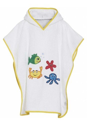 Playshoes Beach poncho, bath poncho - sea animals
