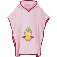 thumb-Pink beach poncho, bath poncho - Owl-1