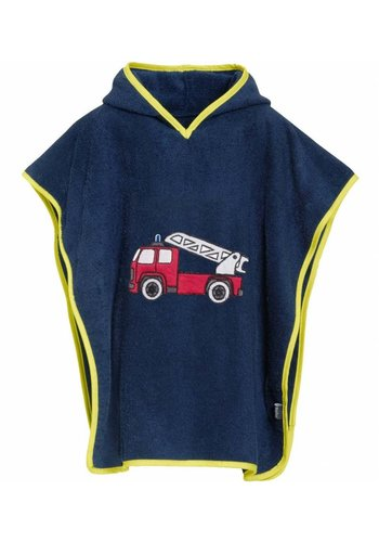 Playshoes Beach poncho, bath poncho - Fire Engine