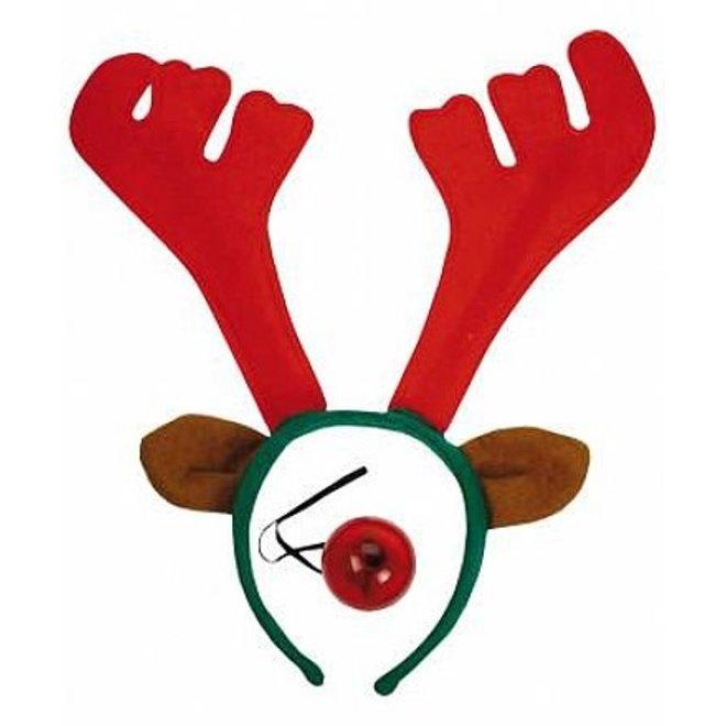 Diadem reindeer with flashing nose